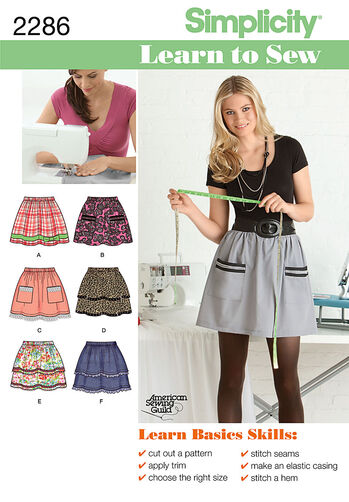 Simplicity Pattern 2286 Misses' Skirts