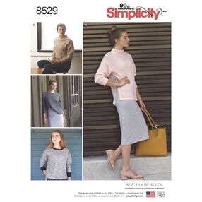 Simplicity Pattern 8529 Misses' Knit Sweaters