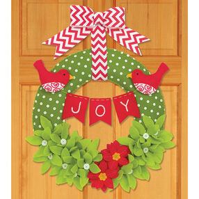 Joy Wreath, Felt Applique_72-08272