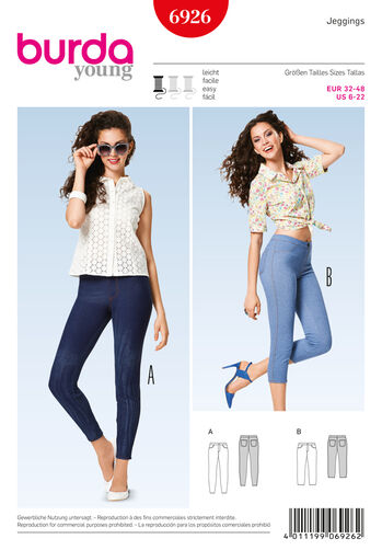 Burda Style Pattern 6926 Pants