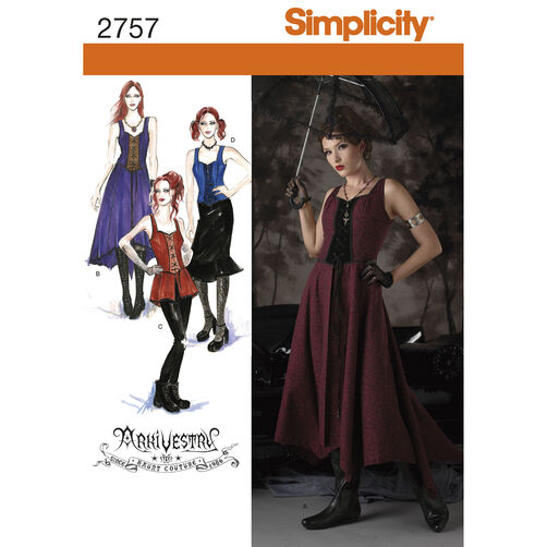 Simplicity Pattern 2757 Misses' Costumes