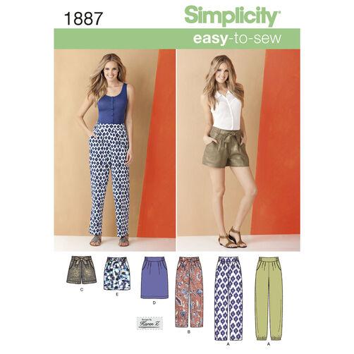 Simplicity Pattern 1887 Misses' Pants & Skirts