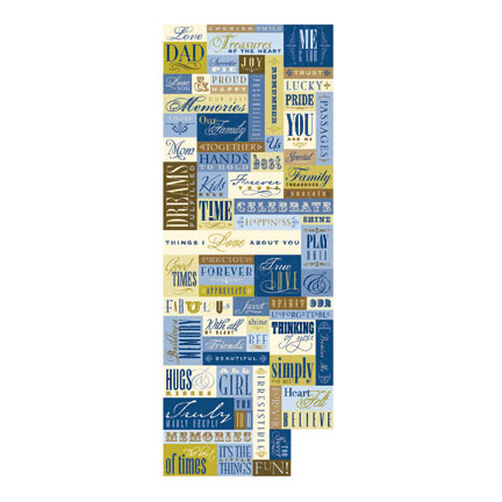 Blue Awning Words and Phrases Embossed Stickers_559974