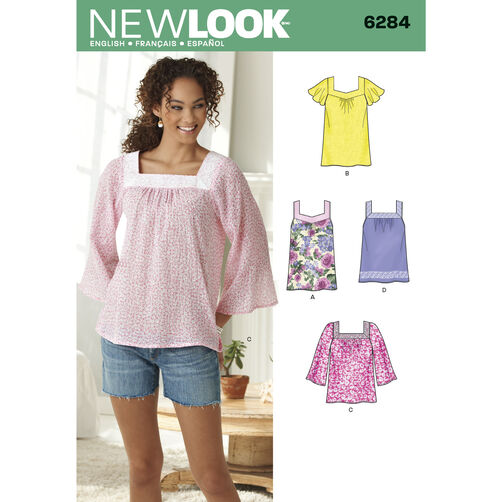 New Look Pattern 6284 Misses' Pullover Top in Two Lengths