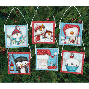 Frosty Friends Ornaments, Counted Cross Stitch_70-08940