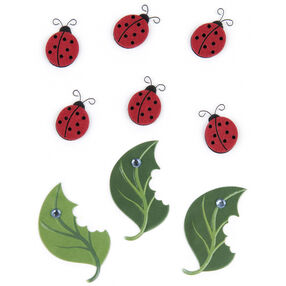 Lady Bug and Leaf Embellishments_50-00448