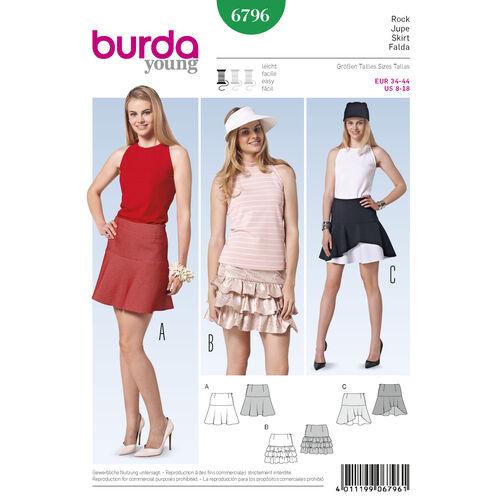 Burda Style Pattern 6796 Skirts