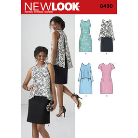 New Look Pattern 6430 Misses' Dress in Two Lengths