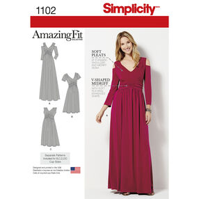 Simplicity Pattern 1102 Misses' & Plus Size Amazing Fit Knit Dress