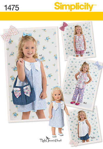 "Child's Sportswear with Matching 18"" Doll Dress"