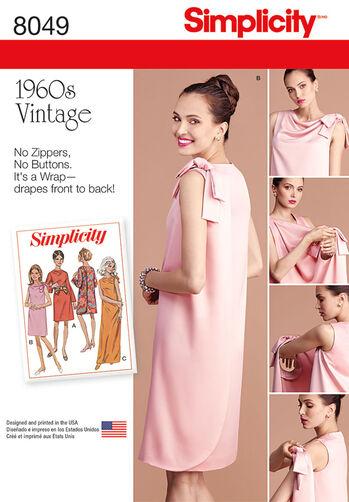 Misses' Vintage 1960's Three Armhole Dress