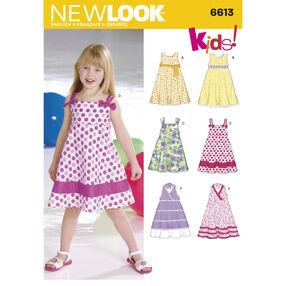 New Look Pattern 6613 Child Dresses