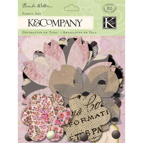 Brenda Walton Flora & Fauna Flower Petal Fabric Art_30-599505
