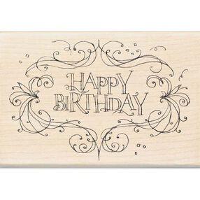 Happy Birthday Flourish Frame_97145