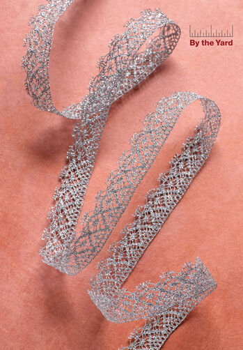 "5/8"" Metallic Cluny Lace"