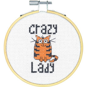 Crazy Cat Lady, Counted Cross Stitch_72-74831