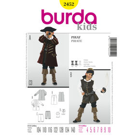 Burda Style Pattern 2452 Pirate