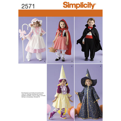 Simplicity Pattern 2571 Toddler Costumes