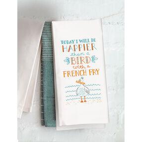 Happy Bird Tea Towel, Embroidery_72-74983