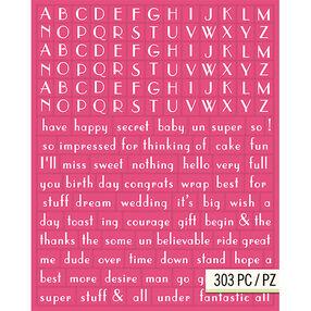 Lily Ashbury Raspberry Lemonade Alphabet Adhesive Chipboard_30-681408