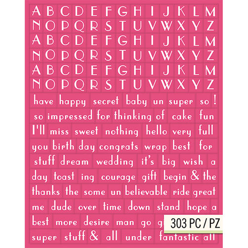 Lily Ashbury Raspberry Lemonade Alphabet Adhesive Chipboard_30-681408