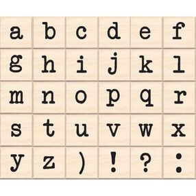Lower Case Typewriter Alphabet_96464