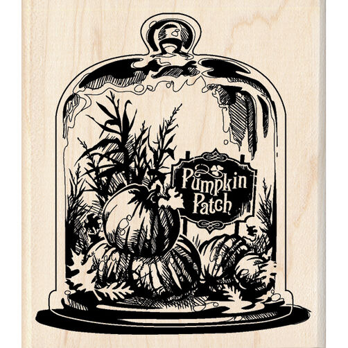 Glassed Pumpkin Patch Wood Stamp_60-00810