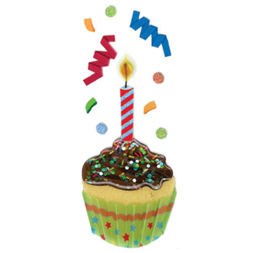 Cupcake Candle Slims Stickers_50-40044