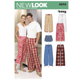 New Look Pattern 6859 Misses', Men's, & Teens' Separates