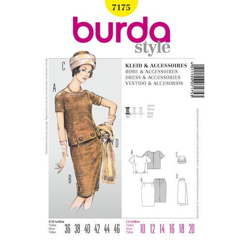 Burda Style Pattern 7175 Dress & Accessories