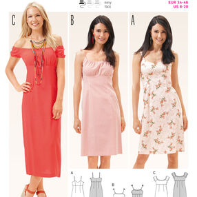 Burda Style Pattern 6686 Women's Dress