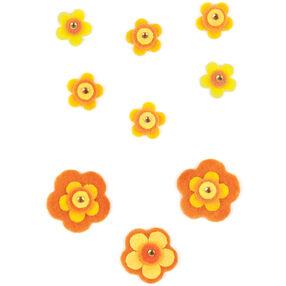 Orange Felt Flower Embellishments_50-00528