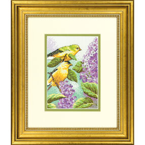Goldfinch and Lilacs, Counted Cross Stitch_70-65153
