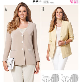 Burda Style Pattern 6782 Jackets, Coats, Vests