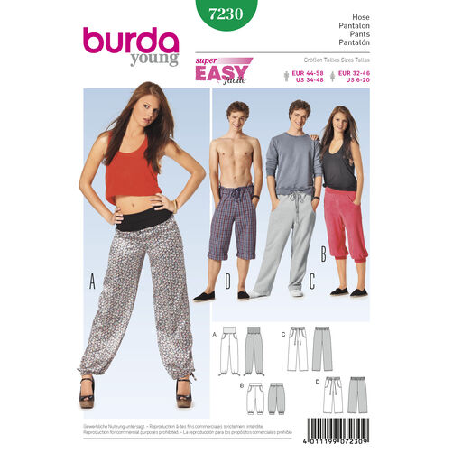 Burda Style Pattern 7230 Pants