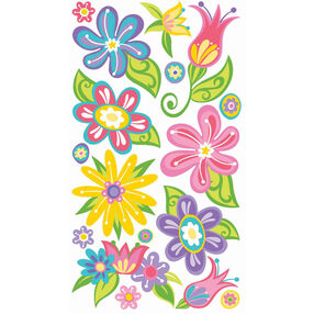 Small Fanciful Flowers Stickers_SPVC26