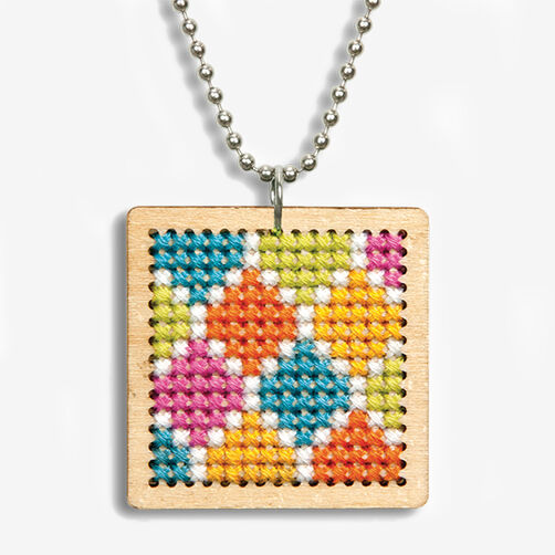 Pattern Pendant Counted Cross Stitch Kit_72-74070