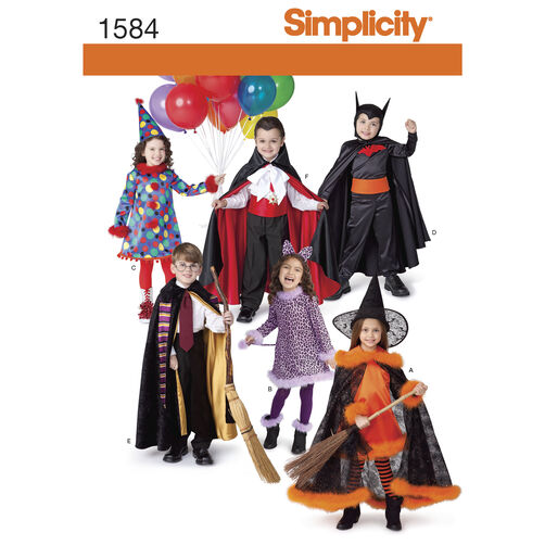 Simplicity Pattern 1584 Child's Costumes