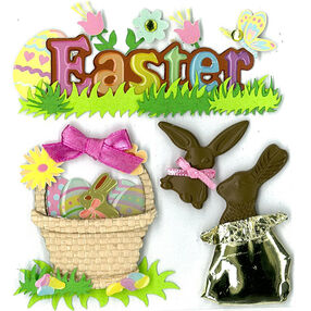 Easter Chocolate Bunnies Stickers_50-20567