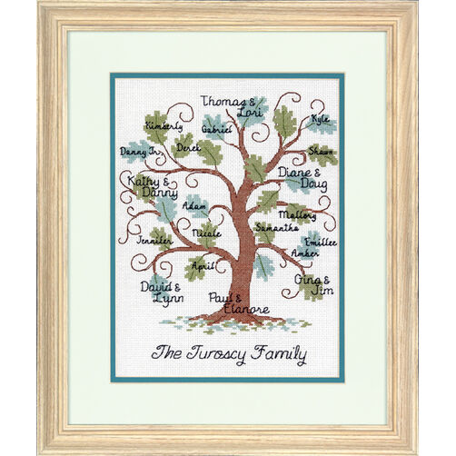 Curvy Oak Family Tree Counted Cross Stitch Kit_70-73821