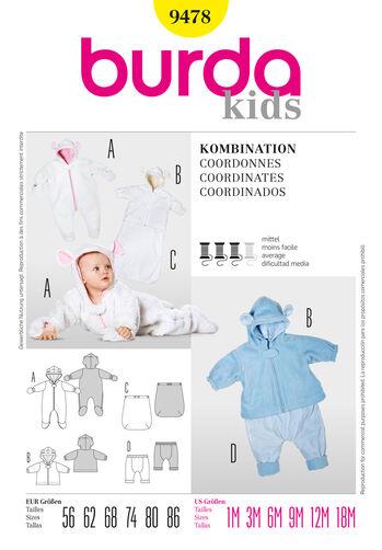 Burda Style Pattern 9478 Coordinates