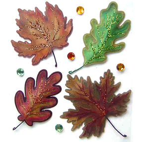 Vellum Leaves Stickers_50-20425