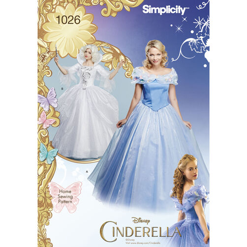 New Nip Disney Baby Girls Halloween Cinderella Costume 6: Pattern For Disney Cinderella And Fairy Godmother Misses