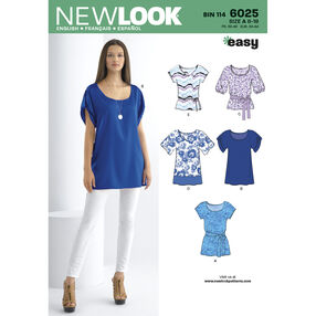 New Look Pattern 6025 Misses' Tunic or Tops