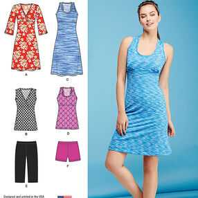 Misses' Easy Knit Sport Dresses, Tunics and Shorts