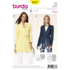 Burda Style Pattern 6637 Misses' Jacket