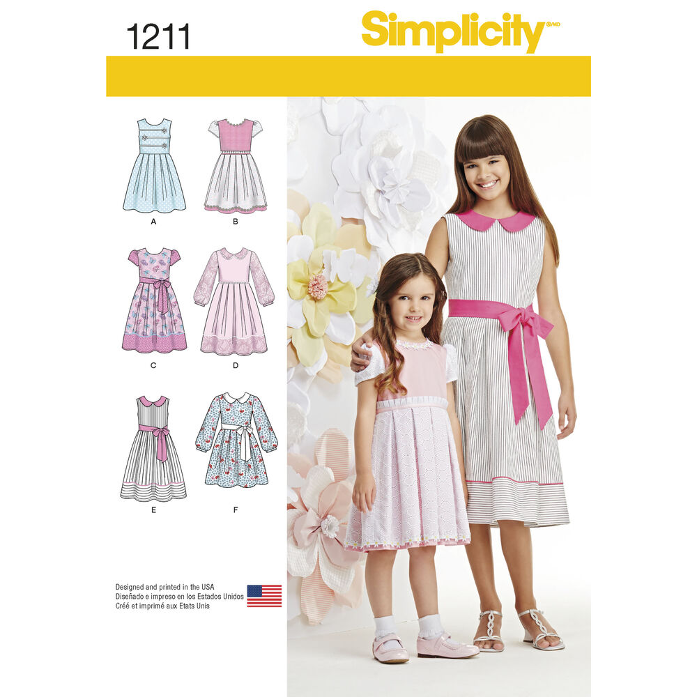 Pattern For Child S And Girls Dress In Two Lengths