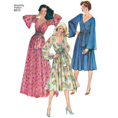 Pattern For Misses Vintage 1970 S Dresses Simplicity