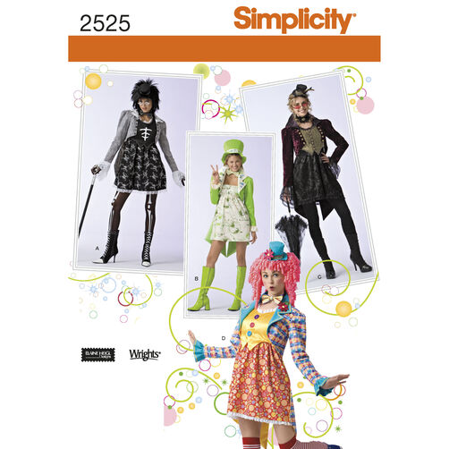 Simplicity Pattern 2525 Misses' Costumes