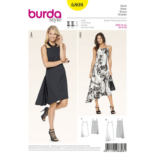 Burda Style Pattern 6808 Dresses